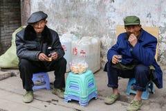 Παλαιός αγρότης που στην αρχαία πόλη, chengdu, Κίνα Στοκ φωτογραφίες με δικαίωμα ελεύθερης χρήσης