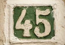 Παλαιός αναδρομικός αριθμός πιάτων χυτοσιδήρου Στοκ Εικόνα