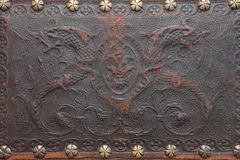 Παλαιός αποτυπώστε το δέρμα σε ανάγλυφο Στοκ Εικόνες