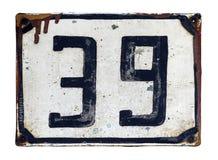 Παλαιός αριθμός οδών Στοκ φωτογραφίες με δικαίωμα ελεύθερης χρήσης