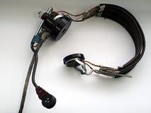 Παλαιός αυθεντικός ακουστικός εξοπλισμός Στοκ Εικόνες