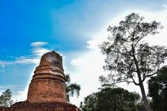 Παλαιός βουδιστικός ναός Phitsanulok Ταϊλάνδη Chedi Wat aranyik Στοκ Εικόνες