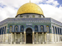 παλαιός βράχος της Ιερουσαλήμ θόλων sity Το πιό γνωστό μουσουλμανικό τέμενος στην Ιερουσαλήμ Στοκ φωτογραφία με δικαίωμα ελεύθερης χρήσης