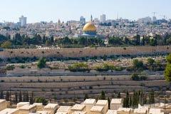 παλαιός βράχος της Ιερουσαλήμ θόλων sity Στοκ φωτογραφίες με δικαίωμα ελεύθερης χρήσης
