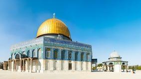παλαιός βράχος της Ιερουσαλήμ θόλων sity Στοκ Εικόνα