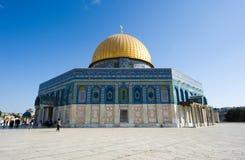 παλαιός βράχος της Ιερουσαλήμ θόλων sity Στοκ εικόνες με δικαίωμα ελεύθερης χρήσης