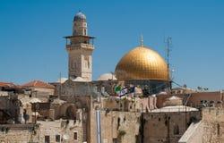 παλαιός βράχος της Ιερουσαλήμ θόλων sity Στοκ εικόνα με δικαίωμα ελεύθερης χρήσης
