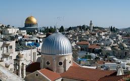 παλαιός βράχος της Ιερουσαλήμ θόλων sity Στοκ Φωτογραφίες