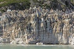 Παλαιός, βρώμικος πάγος ενός αργού κινούμενου παγετώνα στοκ εικόνες με δικαίωμα ελεύθερης χρήσης