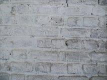 Παλαιός βρώμικος τουβλότοιχος με το άσπρο χρώμα Στοκ Εικόνες