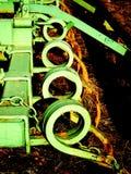 Παλαιός βωλοκόπος έλξης όπως βλέπει άνωθεν στοκ εικόνες