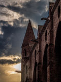 Παλαιός γοτθικός κώνος εκκλησιών στην Τουλούζη Γαλλία Στοκ φωτογραφία με δικαίωμα ελεύθερης χρήσης