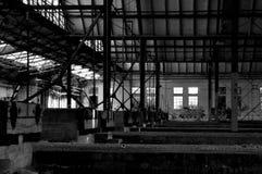 Παλαιός εγκαταλειμμένος σταθμός τρένου Στοκ Φωτογραφίες