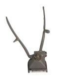 Παλαιός εκλεκτής ποιότητας χειρωνακτικός κουρευτής ζώων τρίχας μετάλλων που απομονώνεται στο άσπρο backgrou Στοκ φωτογραφίες με δικαίωμα ελεύθερης χρήσης