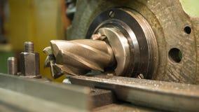 Παλαιός η μηχανή άλεσης, κινηματογράφηση σε πρώτο πλάνο, μεταλλουργική Στοκ Εικόνες