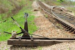 Παλαιός διακόπτης σιδηροδρόμου στοκ φωτογραφίες με δικαίωμα ελεύθερης χρήσης