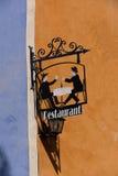 Παλαιός διαφημιστικός πίνακας για το εστιατόριο Στοκ φωτογραφίες με δικαίωμα ελεύθερης χρήσης