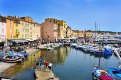 Παλαιός λιμένας Άγιος-Tropez, Γαλλία Στοκ Εικόνες