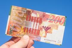 Παλαιός ισραηλινός νέος λογαριασμός shakel διακόσια Στοκ εικόνες με δικαίωμα ελεύθερης χρήσης