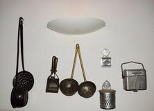 Παλαιός ιταλικός εξοπλισμός κουζινών Στοκ Φωτογραφίες