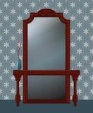 παλαιός καθρέφτης διανυσματική απεικόνιση