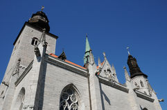 Παλαιός και γραφικός καθεδρικός ναός Visby Στοκ Εικόνα