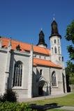 Παλαιός και γραφικός καθεδρικός ναός Visby Στοκ Φωτογραφία