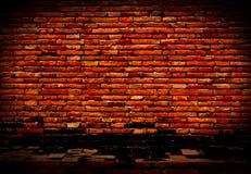 Παλαιός και τούβλινος τοίχος Στοκ Φωτογραφία