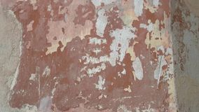 Παλαιός και shabby τοίχος απόθεμα βίντεο