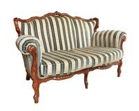 Παλαιός καναπές βελούδου Στοκ Φωτογραφίες