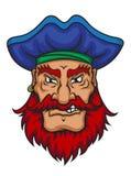 Παλαιός καπετάνιος πειρατών διανυσματική απεικόνιση
