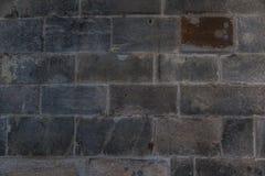 Παλαιός κατασκευασμένος τοίχος φραγμών τούβλου πετρών κάστρων στοκ φωτογραφία