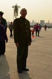 Παλαιός κόκκινος στρατιώτης φρουράς στο πλατεία Tiananmen Στοκ φωτογραφίες με δικαίωμα ελεύθερης χρήσης
