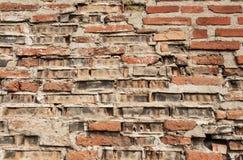 παλαιός κόκκινος τοίχος σύστασης λεπτομέρειας τούβλου ανασκόπησης αρχιτεκτονικής Στοκ φωτογραφίες με δικαίωμα ελεύθερης χρήσης
