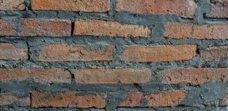 παλαιός κόκκινος τοίχος σύστασης λεπτομέρειας τούβλου ανασκόπησης αρχιτεκτονικής Στοκ Εικόνες