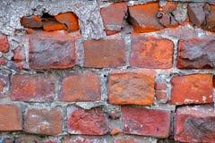παλαιός κόκκινος τοίχος τούβλου Στοκ Φωτογραφία