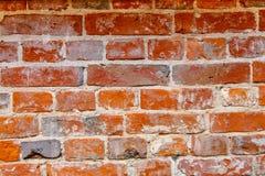 παλαιός κόκκινος τοίχος Στοκ Φωτογραφία