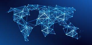 Παλαιός Κόσμος χαρτών απεικόνισης παγκόσμιο δίκτυο διάνυσμα ελεύθερη απεικόνιση δικαιώματος