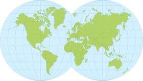 Παλαιός Κόσμος χαρτών απεικόνισης Στοκ Εικόνα
