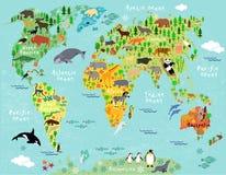 Παλαιός Κόσμος χαρτών απεικόνισης διανυσματική απεικόνιση