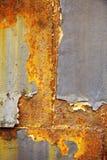 Παλαιός μαύρος και κίτρινος τοίχος μετάλλων Στοκ εικόνες με δικαίωμα ελεύθερης χρήσης