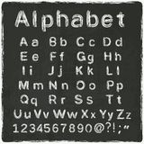 Παλαιός μαύρος πίνακας αλφάβητου διανυσματική απεικόνιση
