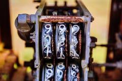 Παλαιός μετρητής αντλιών καυσίμων Στοκ εικόνα με δικαίωμα ελεύθερης χρήσης