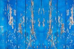 Παλαιός μπλε ξύλινος για το υπόβαθρο Στοκ Εικόνα