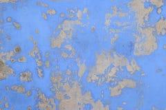 Παλαιός, μπλε τοίχος χρώματος με τη σύσταση Στοκ φωτογραφίες με δικαίωμα ελεύθερης χρήσης