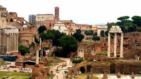 παλαιός ναός της Ρώμης φόρουμ στηλών Στοκ Εικόνες