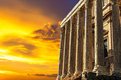 Παλαιός ναός Antoninus και Faustina Στοκ Φωτογραφίες