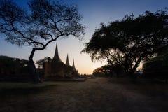 Παλαιός ναός, Si Sanphet Wat Phra Στοκ Φωτογραφίες