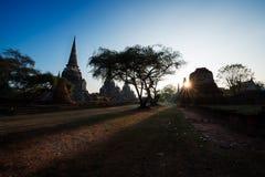 Παλαιός ναός, Si Sanphet Wat Phra Στοκ εικόνες με δικαίωμα ελεύθερης χρήσης