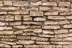 Παλαιός ξεπερασμένος ενισχυμένος τοίχος του ασβεστόλιθου Στοκ εικόνα με δικαίωμα ελεύθερης χρήσης